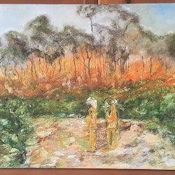 Hall road fires kristy lyn osseweyer bluethumb art