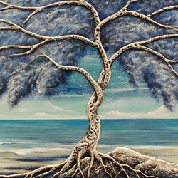 Blissful tree amelia farrugia bluethumb art
