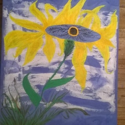 Life flower michelle adair barnden bluethumb art
