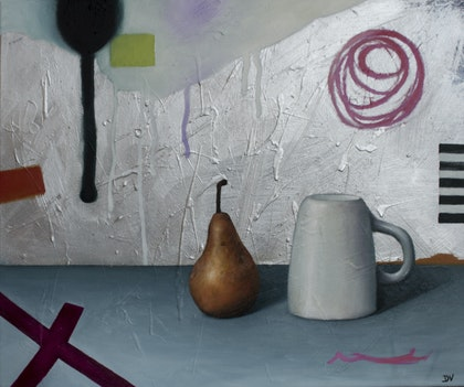 Proto Still life #10 - Pear and tea cup