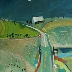 Country road 6 susan trudinger bluethumb art