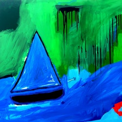 Boats against the current cameron holmes bluethumb art