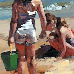 Sandcastles vi limited edition giclee art print 2 100 claire mccall bluethumb art
