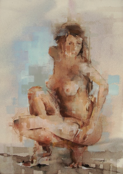 Untitled (Woman Crouching)