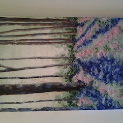 French forrest michelle baumann bluethumb art