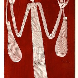 Wakewaken sugar bag woman don namundja bluethumb art