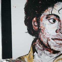 Michael jackson tim christinat bluethumb art