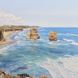 Pt campbell nat park view east from the 12 apostles francis mcmahon bluethumb art