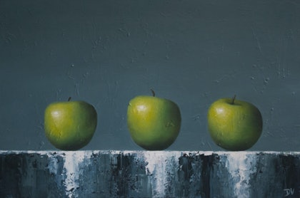 Three of a kind - Still life with apples