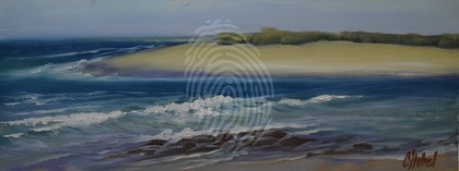 Happy Valley, Caloundra Queensland, Plein Air Oil Painting
