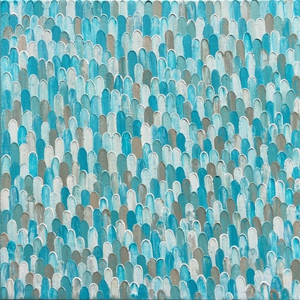 """TURQUOISE RAIN"".  MADE TO ORDER ARTWORK."