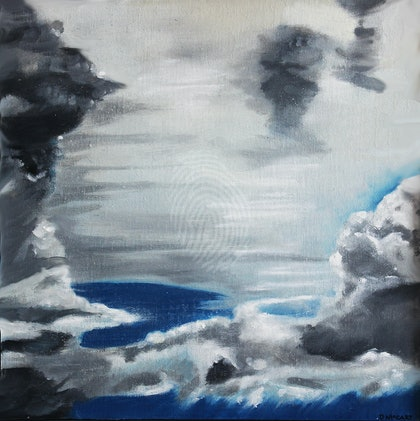 Cloud study, Coming storm