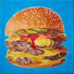 Double cheeseburger michelle angelique bluethumb art.jpg?w=250&h=250&fit=crop&mark=https%3a%2f%2fimages.bluethumb.com.au%2fbluethumb art assets%2fwatermark%2fbt watermark