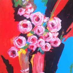 Roses are pink maria dee bluethumb art