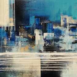 Moonlight city limits amelia farrugia bluethumb art