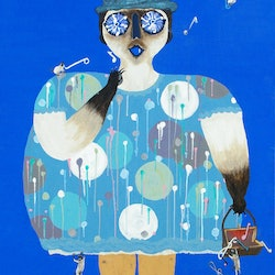 Mrs dalrymple likes to sing the blues too scandi fun with a siamese cat lesley taylor bluethumb art
