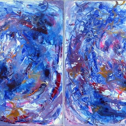 Twin paradox diptych 2010 estelle asmodelle bluethumb art 8bdc