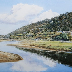 Wye river on the great ocean road francis mcmahon bluethumb art