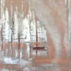 Moonstruck 60x76x3 canvas silver potters pink louise croese bluethumb art