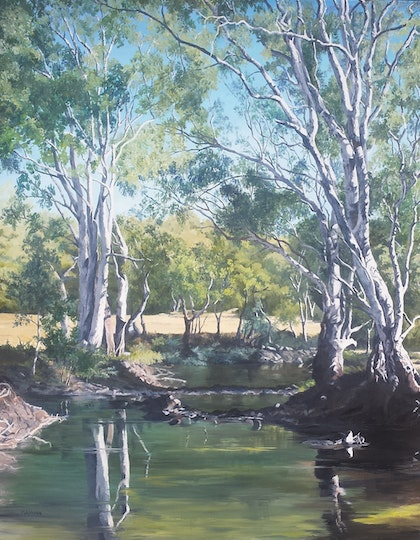 Rivergums at Oxley, Victoria