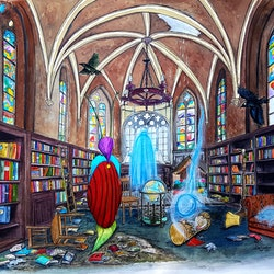 Library of lost time chelle destefano bluethumb art