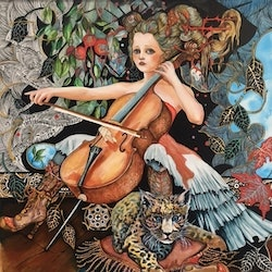 Remembering jacqueline du pre annette golden bluethumb art