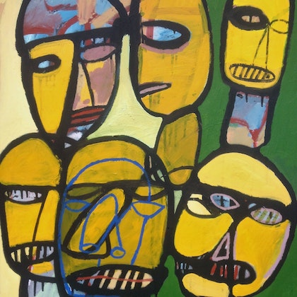 Faces In Yellow