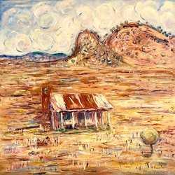Old homestead boulia queensland meg vivers bluethumb art