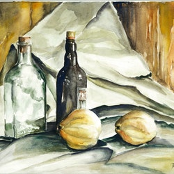Still life with bottles paul ordonez bluethumb art