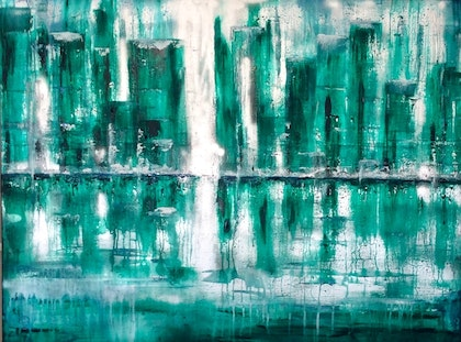 Green Light 102x76x4  Canvas 'I just have this theory ....'