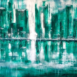 Green light 102x76x4 canvas i just have this theory louise croese bluethumb art