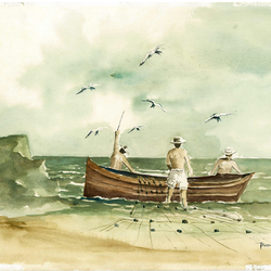 Fishing at dusk with birds paul ordonez bluethumb art.png?ixlib=rails 2.1