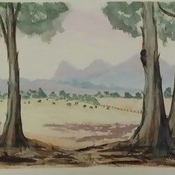 Country paddock southern victoria heather browne bluethumb art
