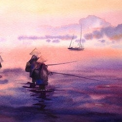 Thai fishing sue lederhose bluethumb art