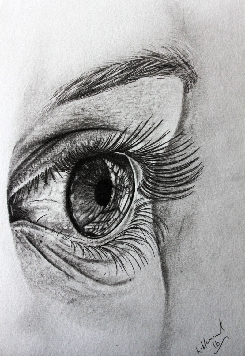 Eye Sketch A4 Graphites on 300gsm card