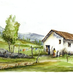House in the andes paul ordonez bluethumb art