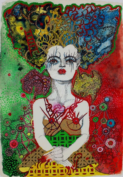 Broken Heart- available as a limited edition Giclee print.  Can be framed for an additional $120
