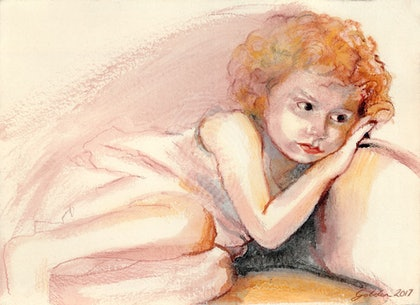 """""""Millie""""- Limited Edition Giclee print using archival ink.  Can be framed for an additional $120"""
