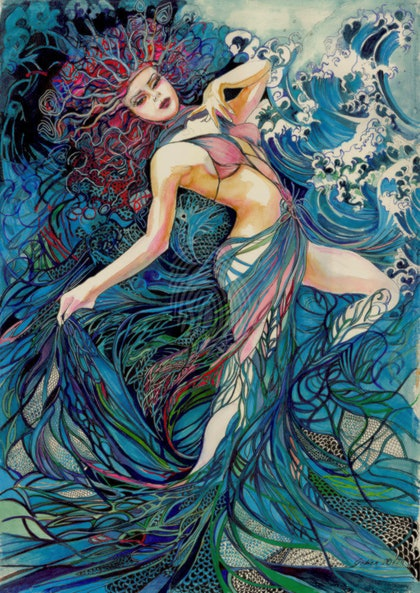Spirit of the Waves- Limited Edition Glicee print for $300- framing available for an additional $120
