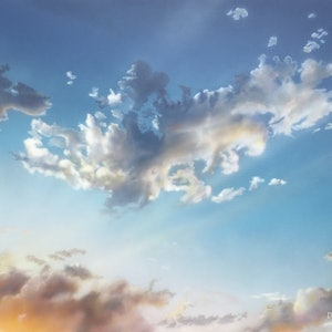 And clouds like flowers glide by david tracey bluethumb art