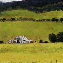 Landscape with shed mt alord louise grove wiechers bluethumb art