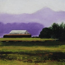 Landscape with shed louise grove wiechers bluethumb art