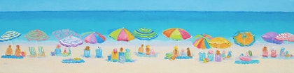 Crazy Lazy Summer Days - Beach painting panorama