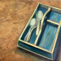 Spoons sally wilkins bluethumb art