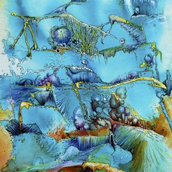 Dreamscape in blue cathy gilday bluethumb art