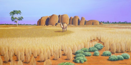 Camel in the landscape. NT.