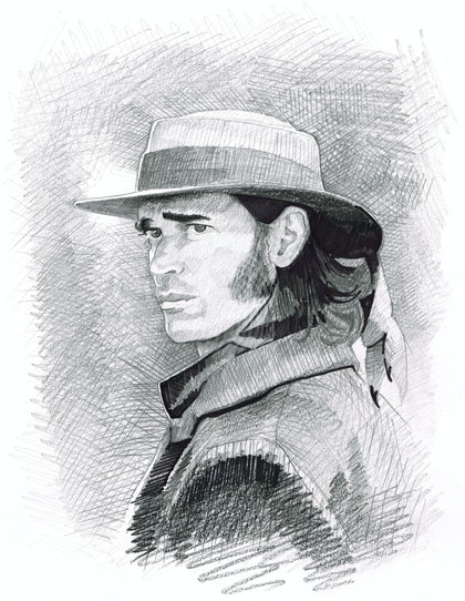 """""""BEN HALL"""" Jack Martin - (first draft) character illustration for """"The Legend of Ben Hall"""" film credits"""