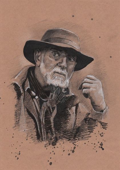 """""""JAMES GORDON"""" Andy McPhee - (final draft) character illustration for """"The Legend of Ben Hall"""" film credits"""