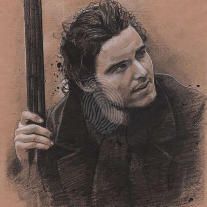 """DANIEL RYAN"" Callan McAuliffe - (final draft) character illustration for ""The Legend of Ben Hall"" film credits"
