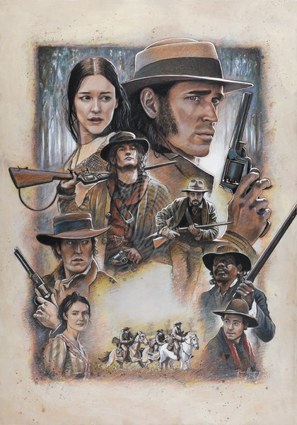 """""""The Legend of Ben Hall"""" official hand drawn poster artwork"""